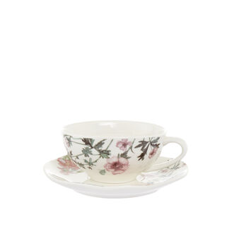 New bone China tea cup with floral decoration