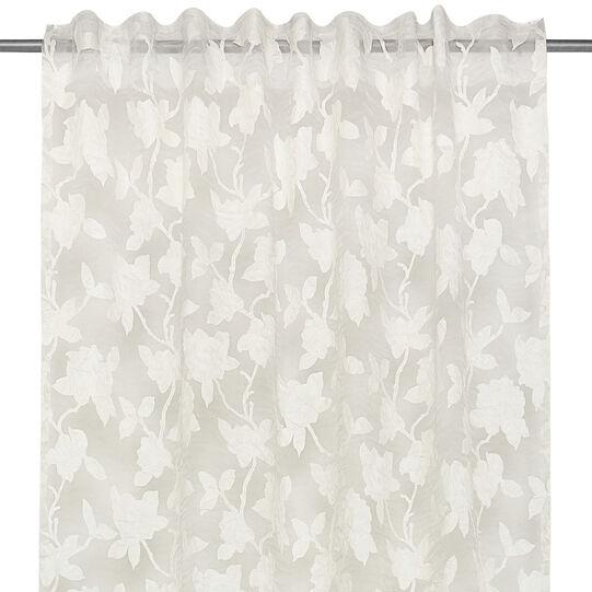 Devoré curtain with rose print