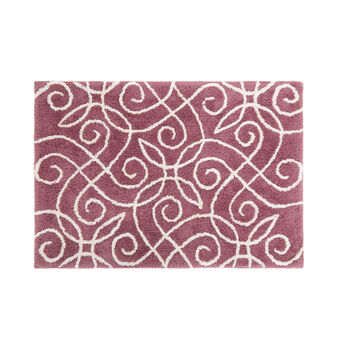 100% cotton bath mat with damask motif