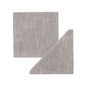 Two-pack iridescent cotton napkins