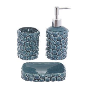 Ceramic bath set with shell motif