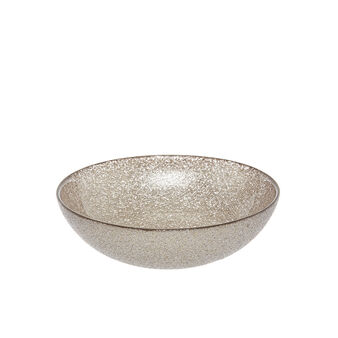 Small glitter-effect glass bowl