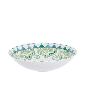 Melamine salad bowl with Morocco decoration
