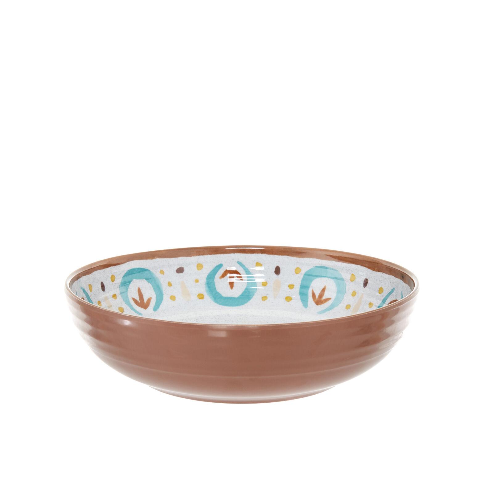 Folk melamine soup bowl