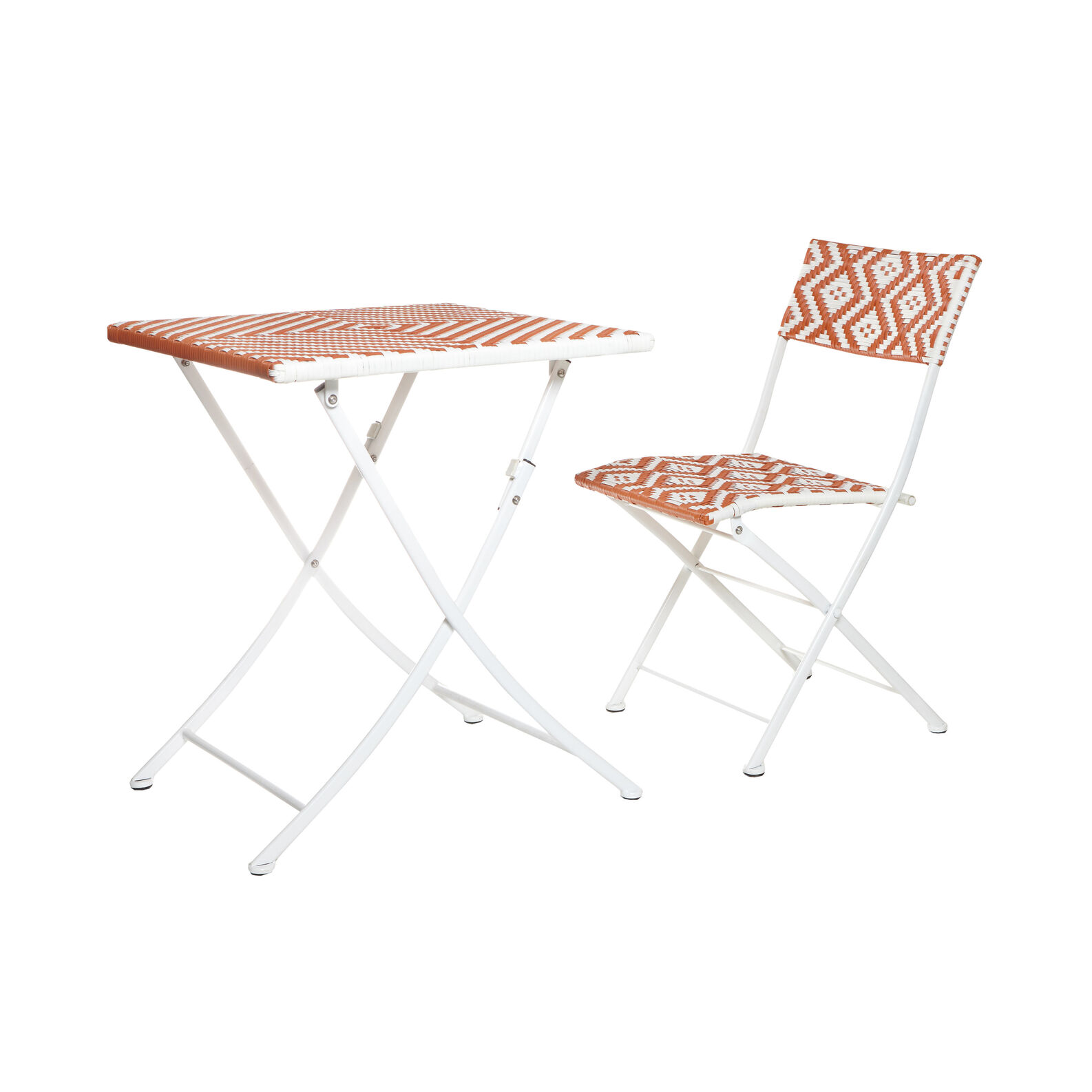 Playacarmen folding chair in polyrattan and aluminium