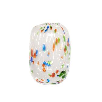Vaso vetro colorato in pasta coriandoli