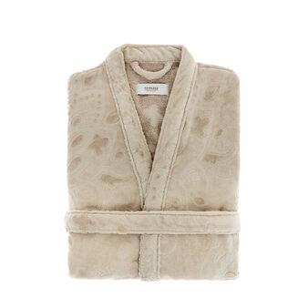 Accappatoio cotone lavorazione jacquard damasco