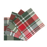 Set of 4 yarn-dyed napkins in 100% cotton with check motif