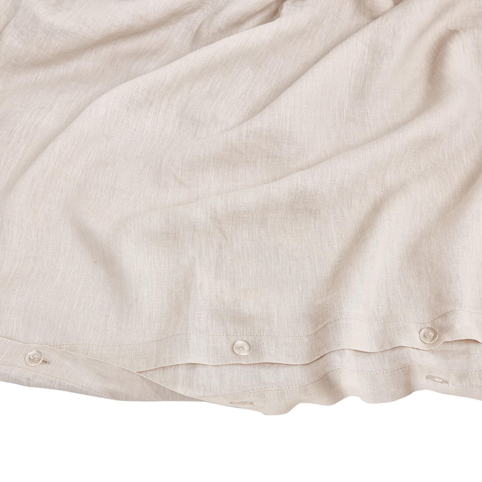 Plain 145 g linen duvet cover high quality