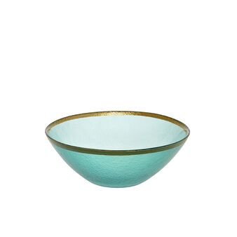Small glass bowl with gold edge
