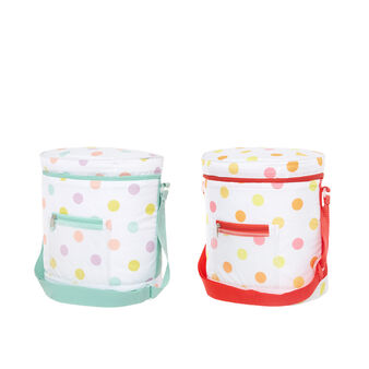 7L polka dot cooler bag