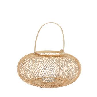 Hand-woven bamboo lantern
