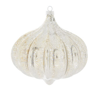 Distressed-effect onion bauble