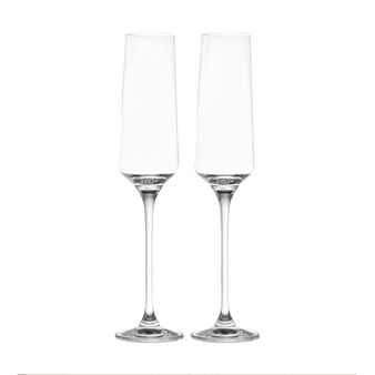Set of 2 glass flutes