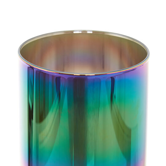 Iridescent frosted glass screen