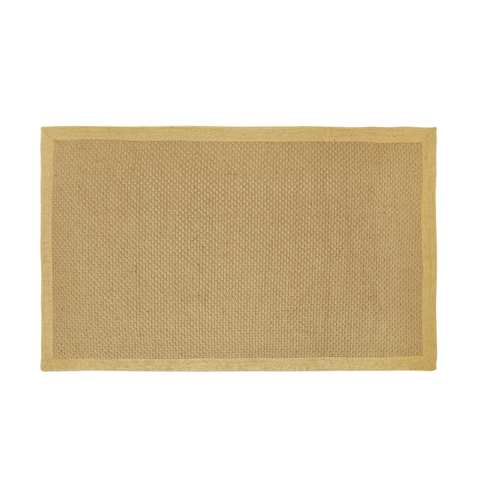 Jute mat with contrasting edging