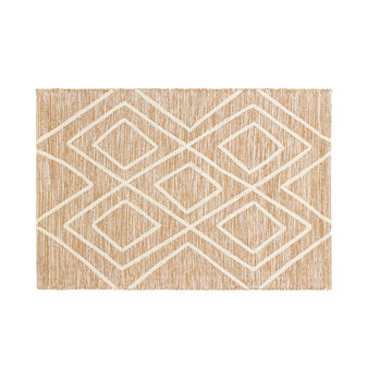 Tufted cotton geometric bath mat