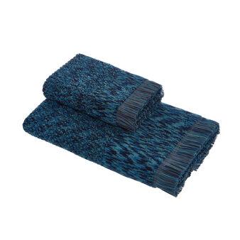 Asciugamano spugna di cotone effetto mélange