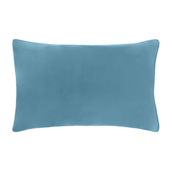 Set of 2 solid colour pillowcases in 100% cotton percale