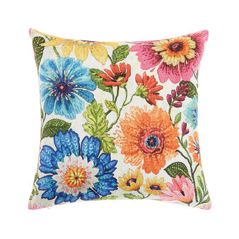Cushion with digital flowers print