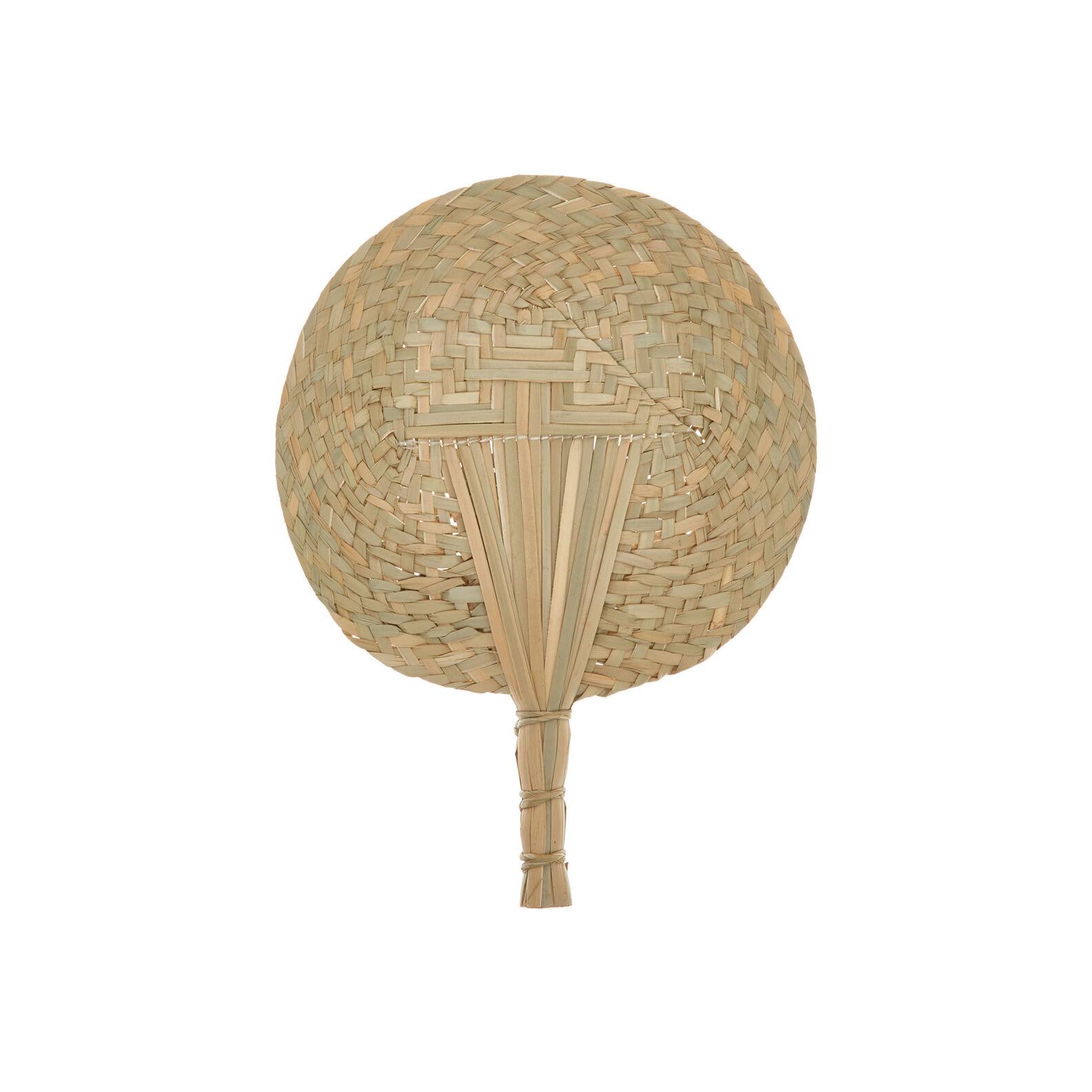 Handwoven decorative straw fan