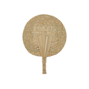 Handwoven decorative straw fan