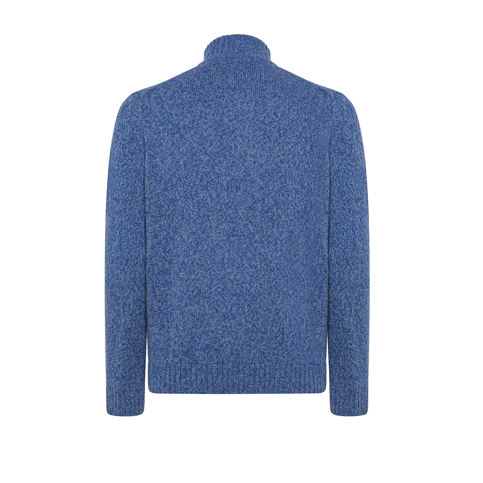High-necked pullover with mouliné design