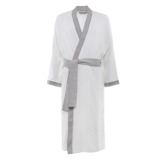 Thermae robe with linen trim