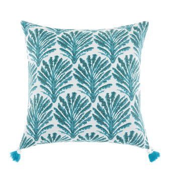 Jacquard palm pattern cushion