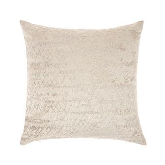 Velvet cushion with jacquard design