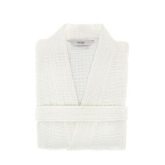 Cotton muslin bathrobe