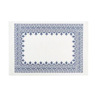 Tovaglietta puro cotone bordo stampato