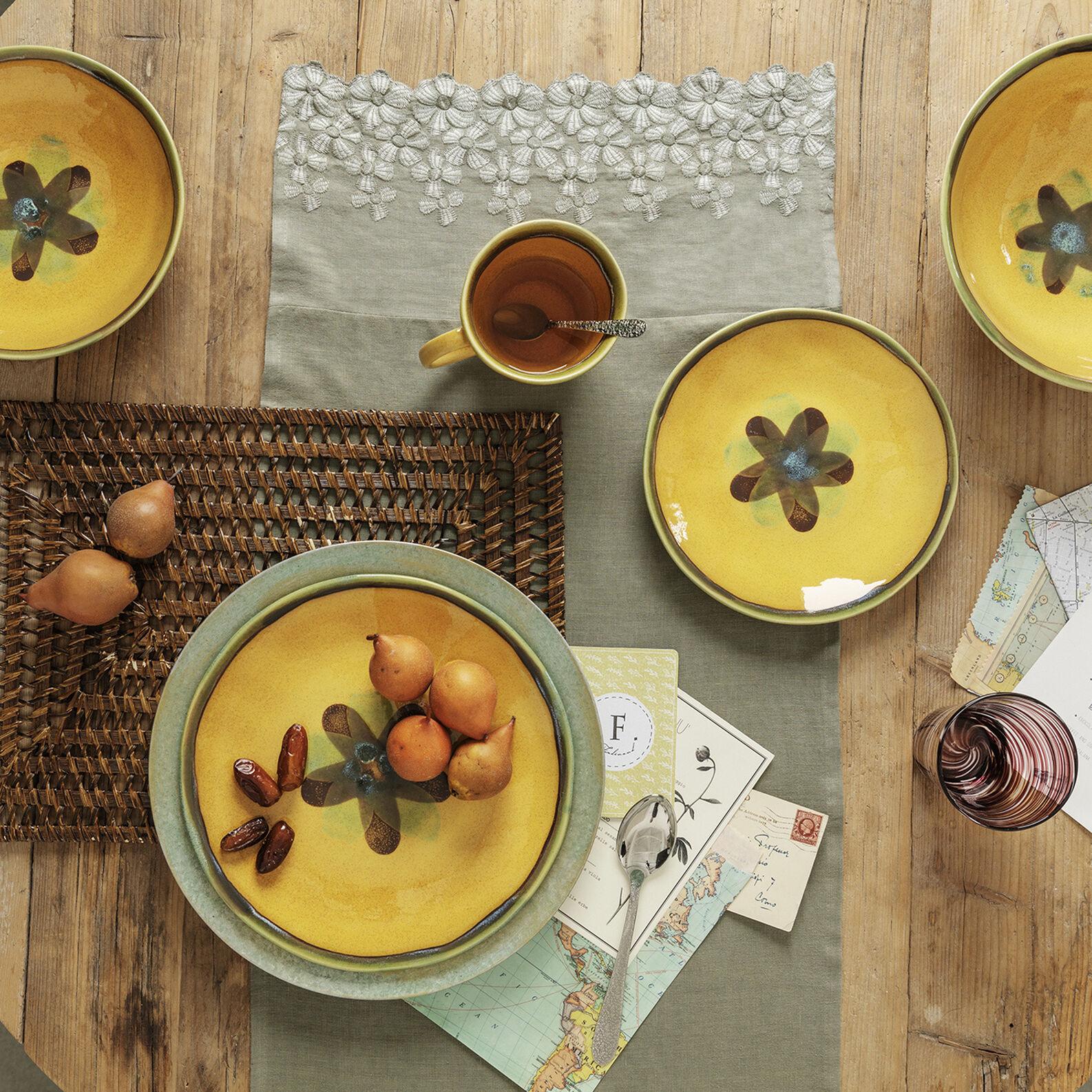 Cotton ceramic soup bowl