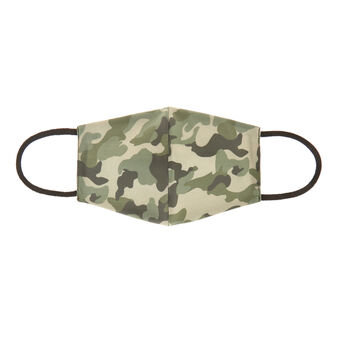 Washable mask in camouflage fabric