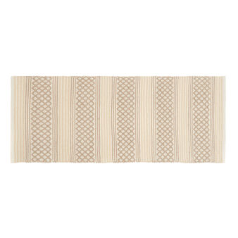 Kitchen mat in 100% cotton with geometric print