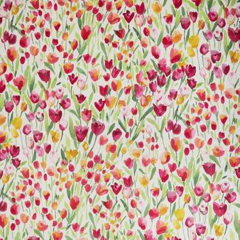 Tovaglia idrorepellente puro cotone stampa tulipani