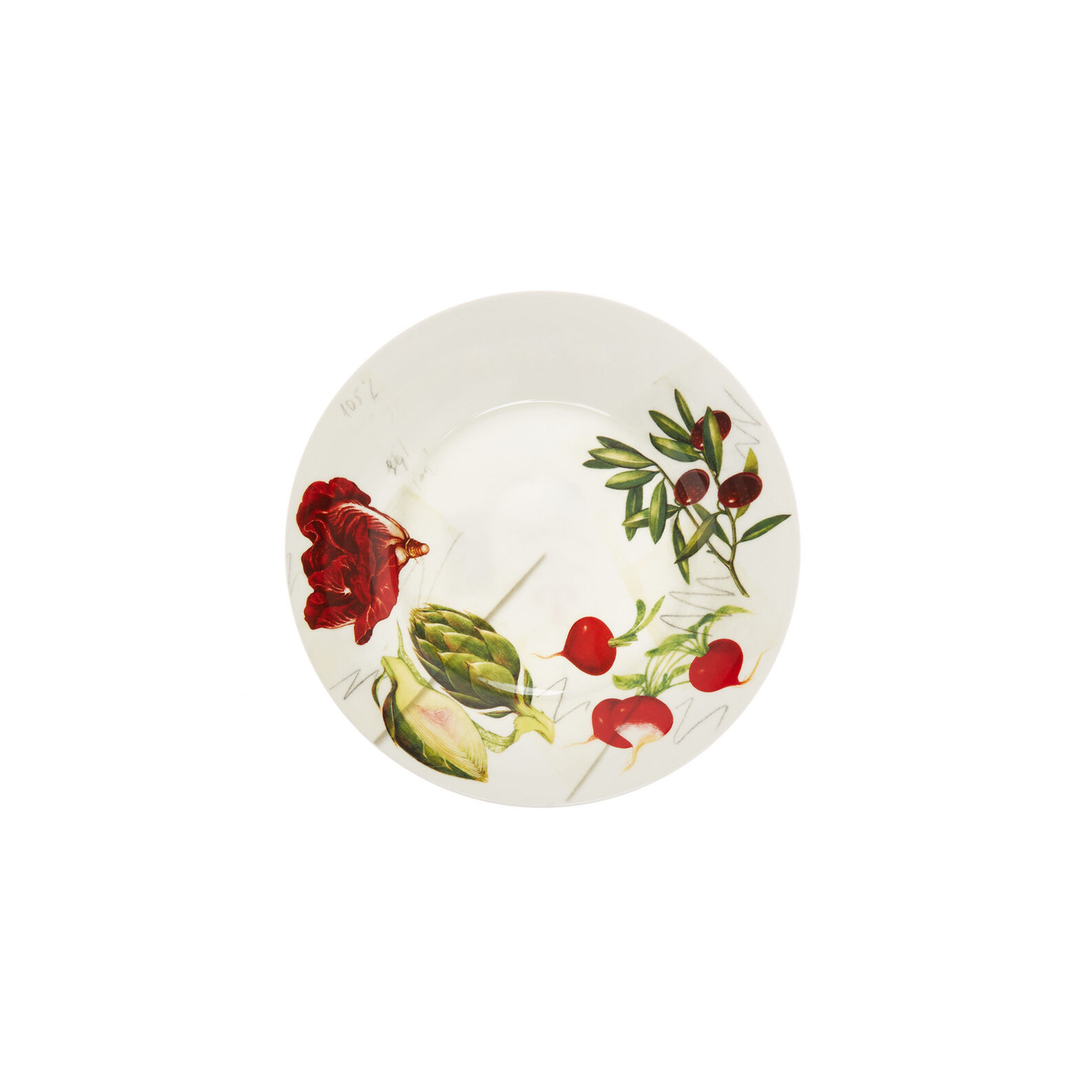 Fine bone china side plate with vegan La Cucina Italiana decoration