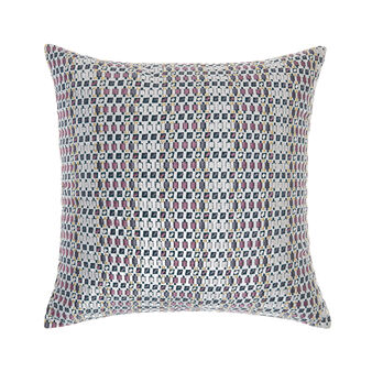 Cushion with mosaic embroidery