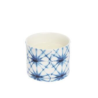 Candle in ceramic pot