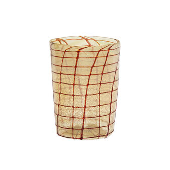 Bicchiere vetro di Murano decoro a rete