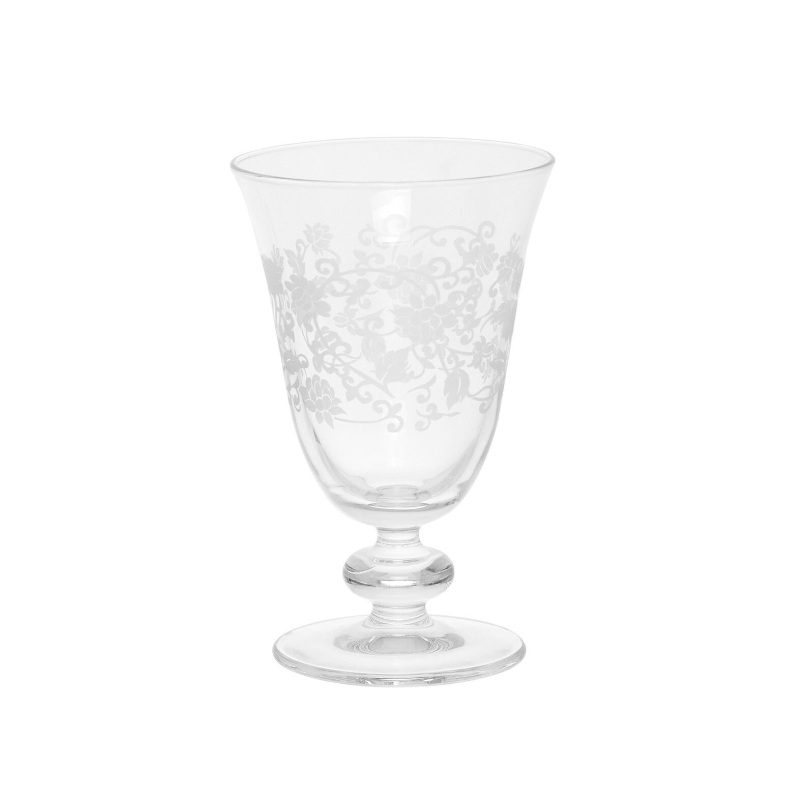 Provence glass water goblet