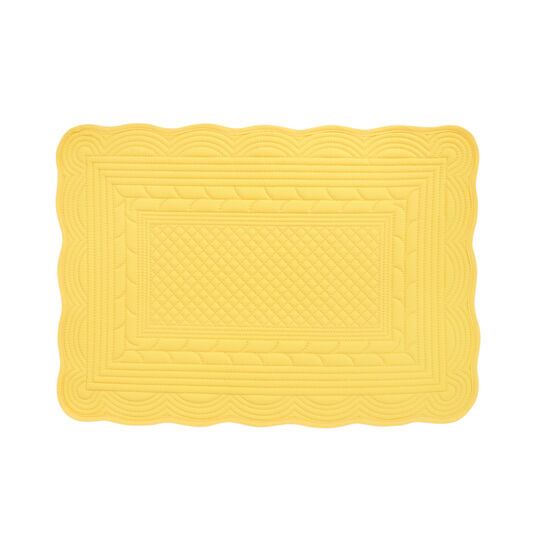 Padded table mat in 100% cotton