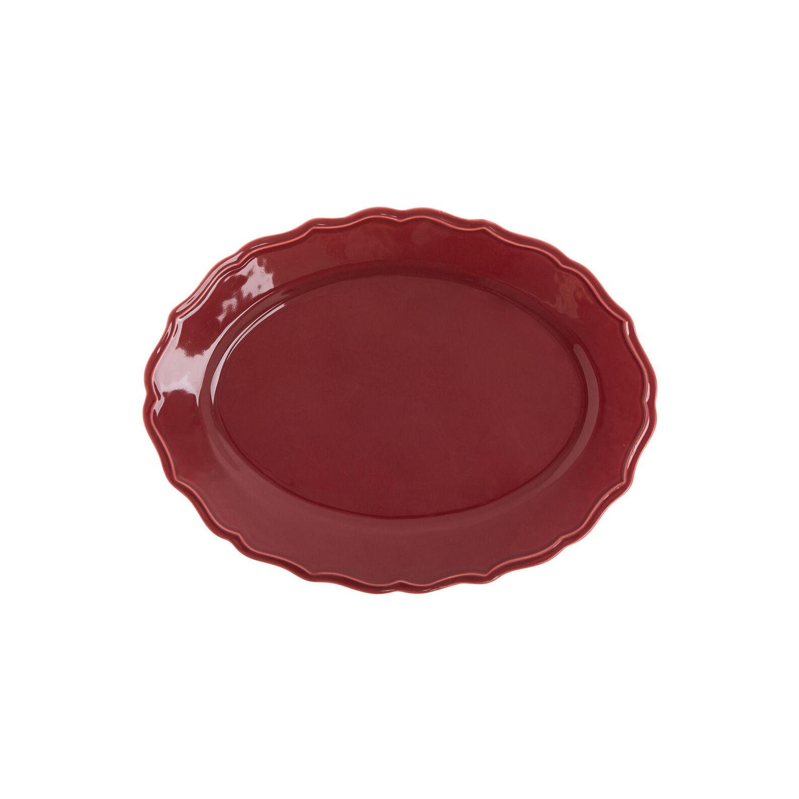 Dona Maria oval plate in glazed ceramic