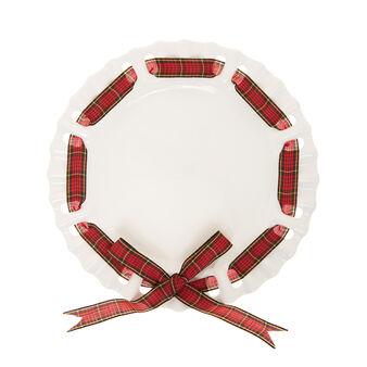 Piatto da portata ceramica fiocco tartan