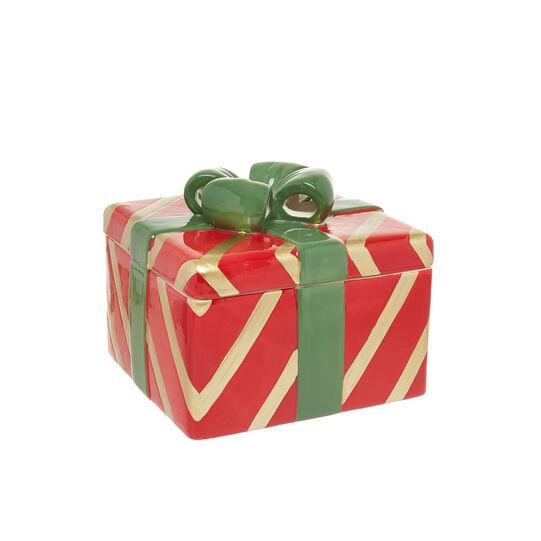 Ceramic biscuit box