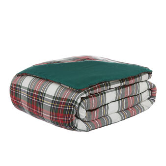 Quilted tartan throw in 100% cotton