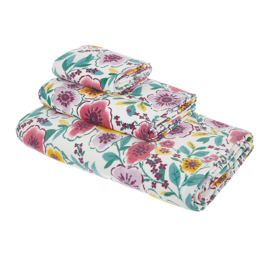 100% cotton towel with flowers pattern