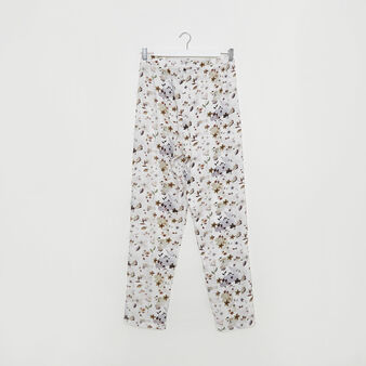 Viscose trousers with floral print