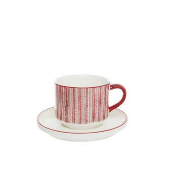 Magenta new bone china tea cup