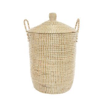 Handmade seagrass laundry basket